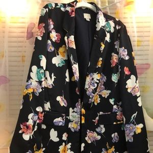 A New Day Floral Blazer